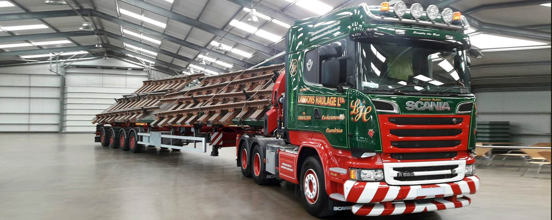 Lawsons Haulage Ltd - Tilting Trailer